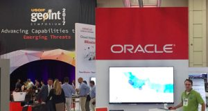 Chief Software Engineer Kevin Madden Demonstrates GDELT Global Knowledge Graph in Oracle and Tom Sawyer Software Booths at GEOINT 2017