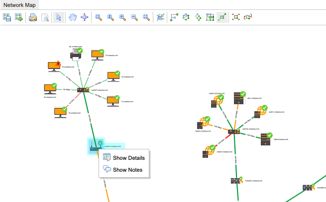 In Release 9.2.0, we can more easily add details or notes to the nodes in this computer network visualization.