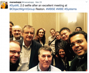 OMG Reston Selfie with SysML 2.0 Group